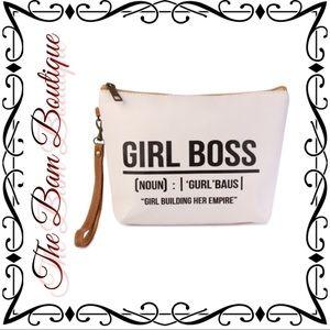 """Handbags - Statement Cosmetic Bag """"Girl Boss"""""""